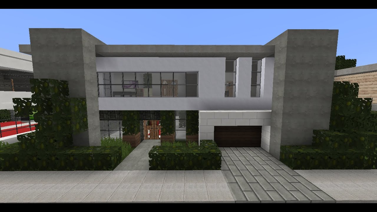 Minecraft modern house designs 5 youtube for Home designs minecraft