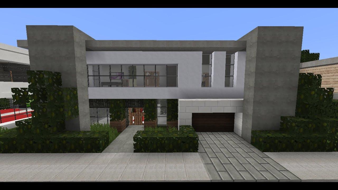Minecraft Modern House Designs #5 - YouTube