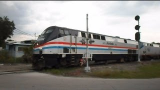 Amtrak Train Stops Signal Turns Train Reverses Into Tampa