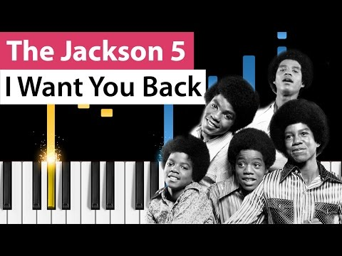 The Jackson 5 - I Want You Back - Piano Tutorial - How to play I Want You Back