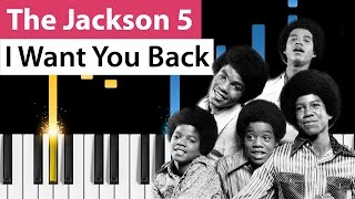 vuclip The Jackson 5 - I Want You Back - Piano Tutorial - How to play I Want You Back