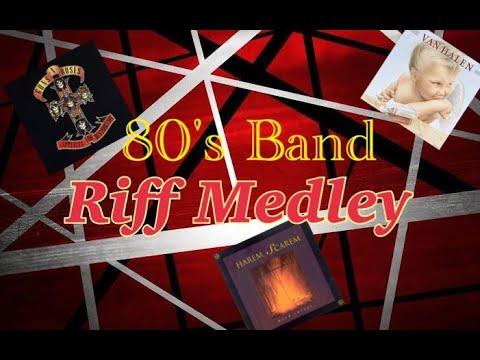 【Guitar Cover】80's Band – Riff Medley – #GunsNRoses #VANHALEN #HaremScarem