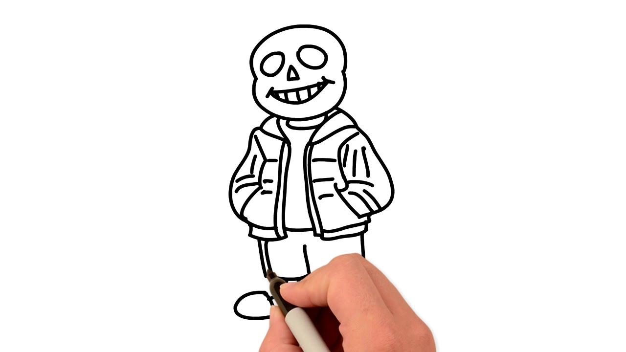 Sans Undertale How To Draw Coloring Pages Sans Painting Learn