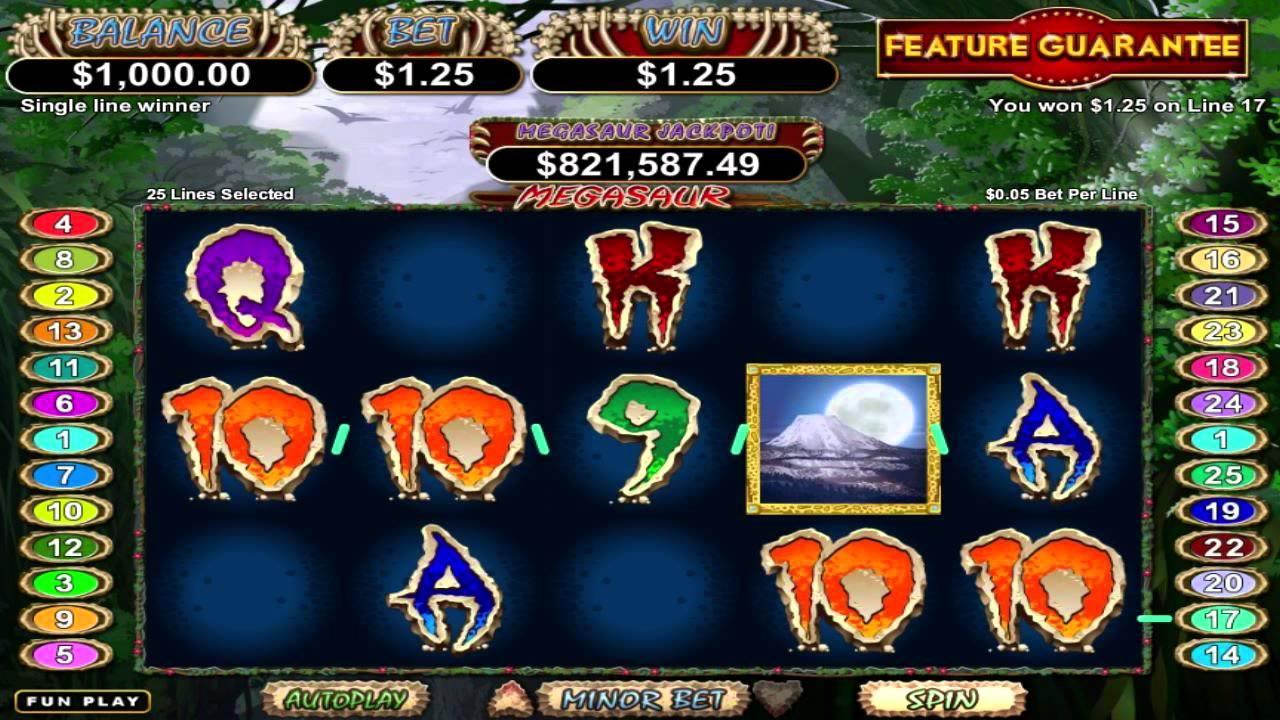 Play Megasaur Slot Machine Free With No Download