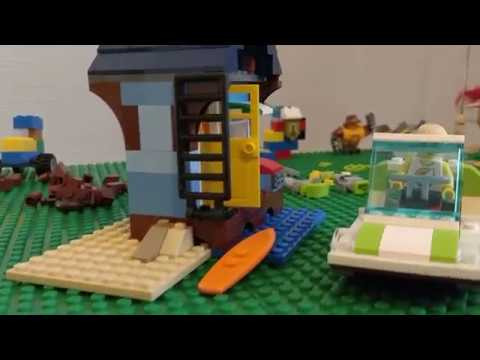 Review of Lego Creator Beachside Vacation (31063). Build 1 of 3.