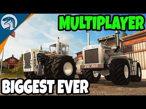 BIGGEST FARM TRACTORS ON EARTH - NEW | Big Bud DLC | Farming Simulator 17 Multiplayer Gameplay