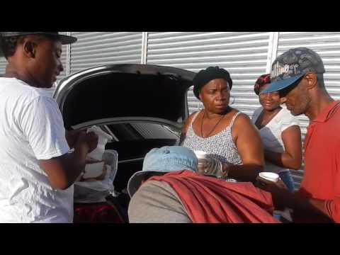 FEEDING THE HOMELESS IN GEORGETOWN GUYANA