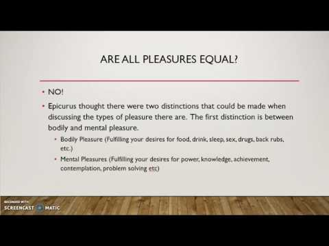 Epicurus and Pleasure