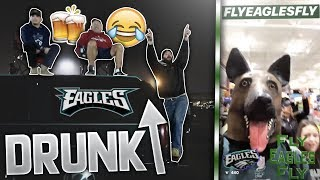 EAGLES WIN THE SUPER BOWL REACTION *IN PUBLIC* (crazy drunk guy on top of his car)