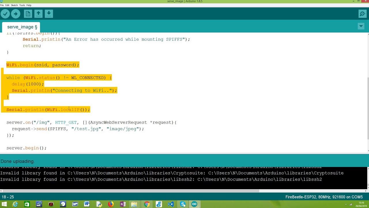 ESP32 Arduino HTTP web server: Serve Image from SPIFFS file system