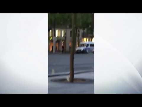 Champs Elysées attack caught on camera