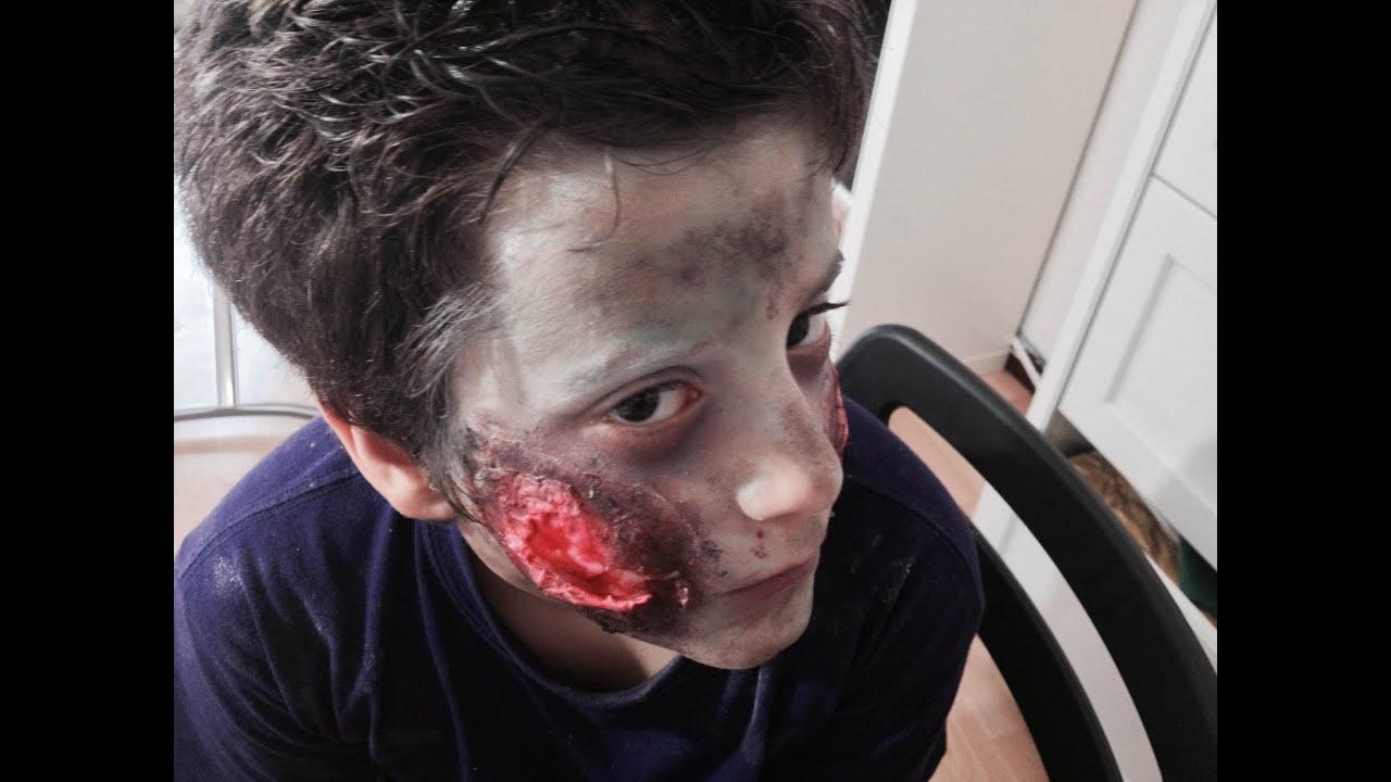 maquillage zombie nino