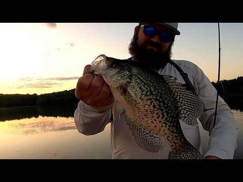 Centennial Lake Bass Fishing And Giant Crappie !!   Big Ned Rig