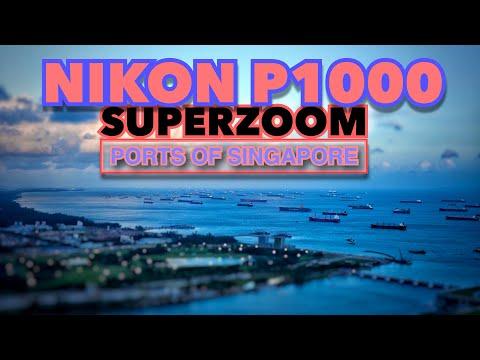 Nikon P1000 - Ports of Singapore SuperZoom