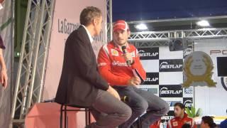 Motor Show 2011 - Intervista a Giancarlo Fisichella presso lo stand Gazzetta dello Sport