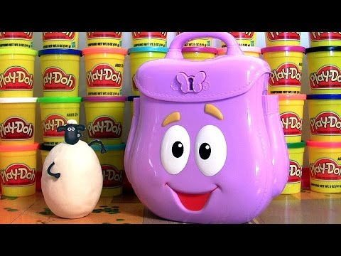 Thumbnail: Play Doh Dora's Backpack Surprise Baby Toys Eggs Frozen Clay-Buddies Sofia Minions Shaun Paw Patrol