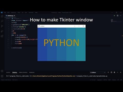 How to make a Tkinter(modern GUI) in  PYTHON