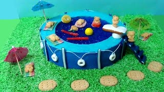 how to make swimming pool party cake