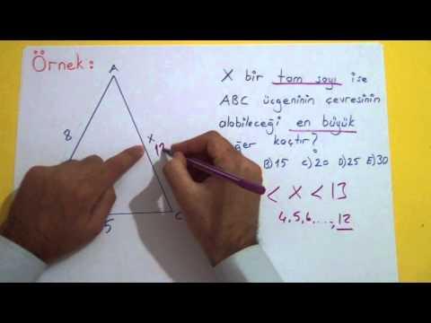 Açı Kenar Bağıntısı Şenol Hoca Matematik