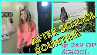 🚌AFTER SCHOOL ROUTINE🚌 |😮 1ST DAY OF SCHOOL😮 | Emma & Ellie