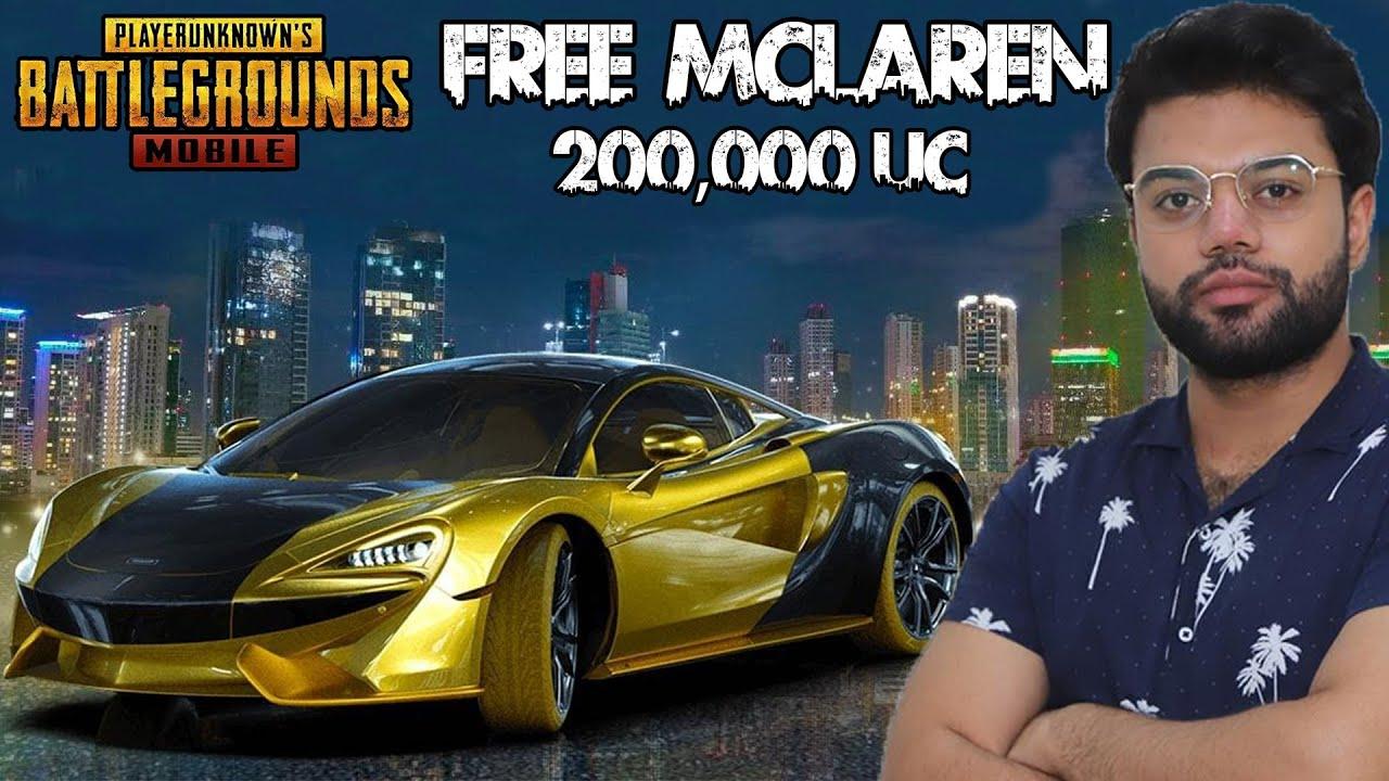 PUBG Mobile Sent Me 200,000 UC McLaren For FREE !!!