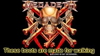 Megadeth - These Boots (Uncensored) with lyrics (HQ)