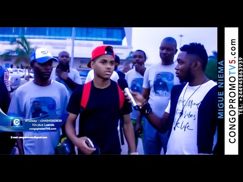 Sport: Arrivée de Jordi à Luanda joueurs de Paris Saint-Germain un jeune CONGOLAIS mais né en Angola