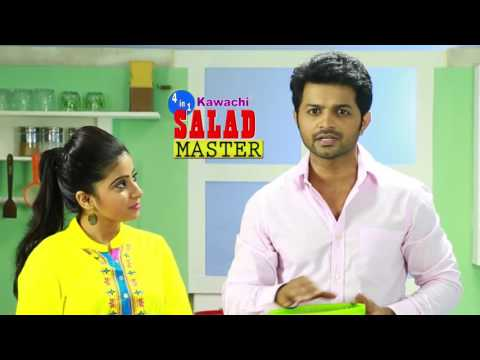 How To Use 4-in-1 Salad Spinner Set with Mandoline Slicer and Storage Lid / सलाड स्पिनर