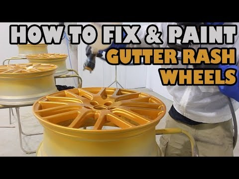How To Fix And Paint Gutter Rashed Wheels