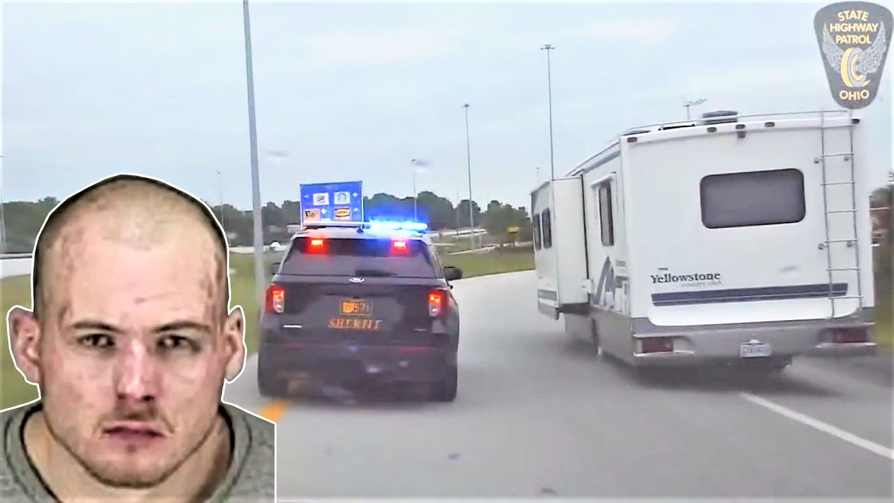 Police Chase Stolen RV. Ohio Highway State Patrol. June 02-2021