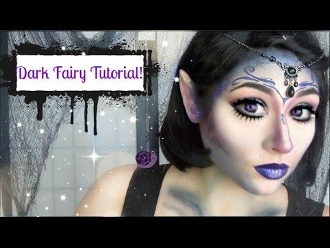 Dark Fairy Halloween Makeup Tutorial - YouTube