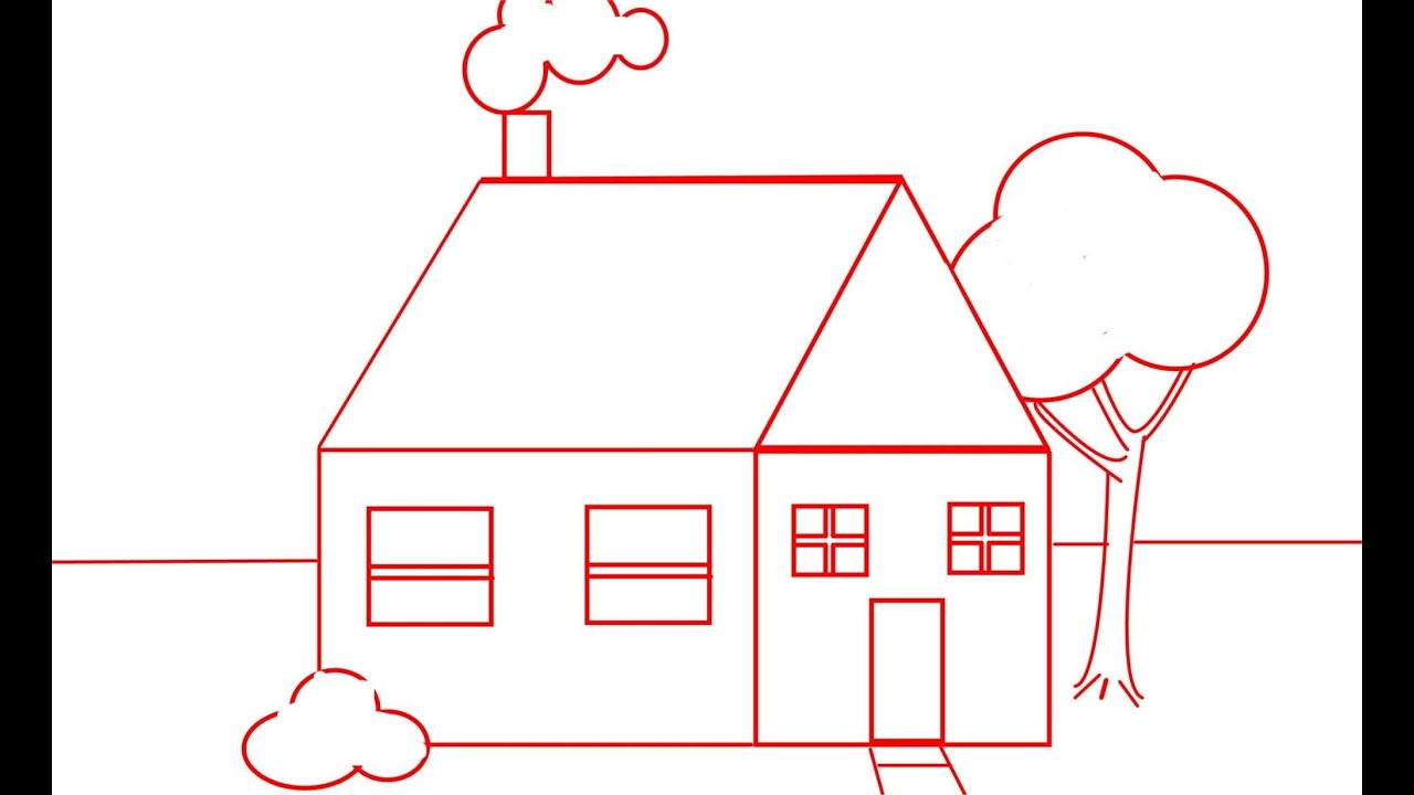 Draw A House For Kids And Beginners
