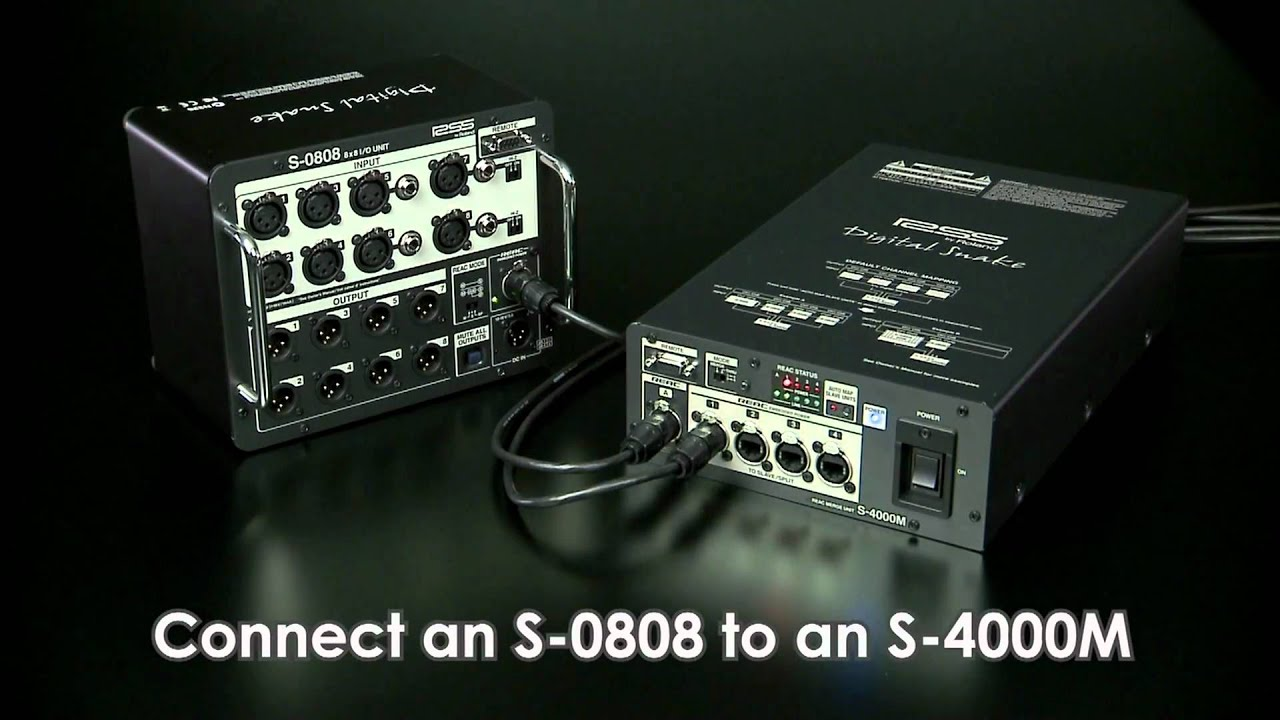 Roland Pro A V S 0808 8 X Input Output Unit Diagram Further Stage Snake Setup On Live Sound System Video Library
