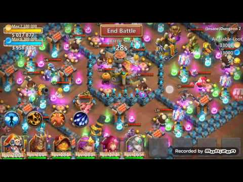 Castle Clash Insane Dungeon 2-1 100% Without Santa, Sm, Or Mino