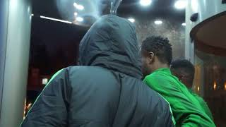 Super Eagles Arriving The Hotel After a Training Session.  Krasnodar Russia. 12/11/2017.