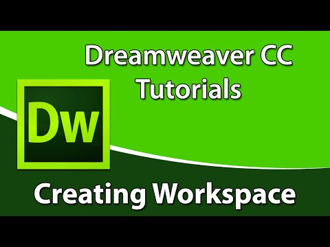 Dreamweaver CC Tutorial: How to Create a New Workspace in Dreamweaver