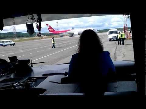 Экскурсия по перрону Аэропорта KJA