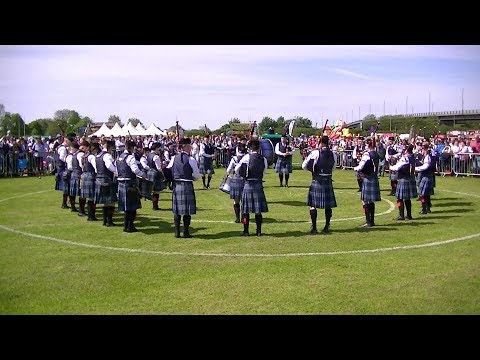 JOHNSTONE PIPE BAND AT THE BRITISH PIPE BAND CHAMPIONSHIPS 2018