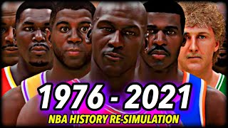 I Reset The NBA To 1976 & Re-Simulated ALL OF NBA HISTORY (UNTIL 2021) | CHAPTER 2: The Jordan Era