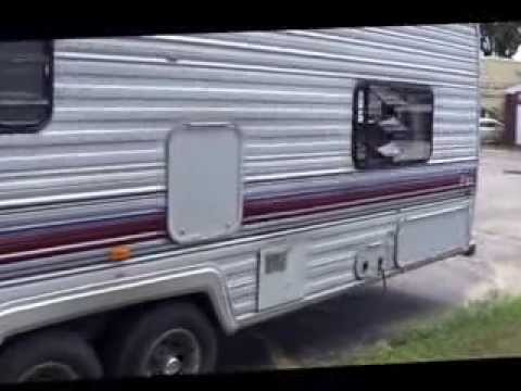 1989 fleetwood terry camper travel trailer review by carmart net rh youtube com Fleetwood Travel Trailer 1975 Inside of a Travel Trailer 2001 Sundance
