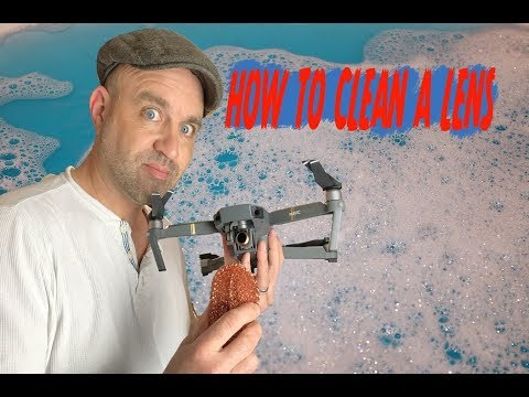 How to clean a DJI Drone Lens
