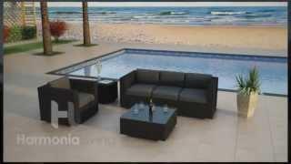3 Piece Urbana Rattan Patio Sofa Set By Harmonia Living