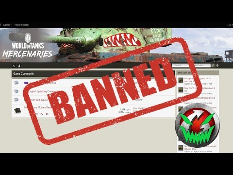 WARGAMING BANNED ME! || No More Forums || World Of Tanks?