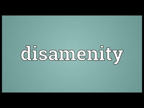 Header of disamenity