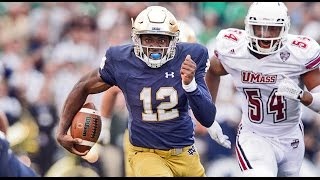 Massachusetts vs. Notre Dame Football Highlights 2015: ND 62 - UMass 27