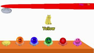 Learn Colors & Numbers for Children with  cat , dog & Smile ball  Kids Learning Video