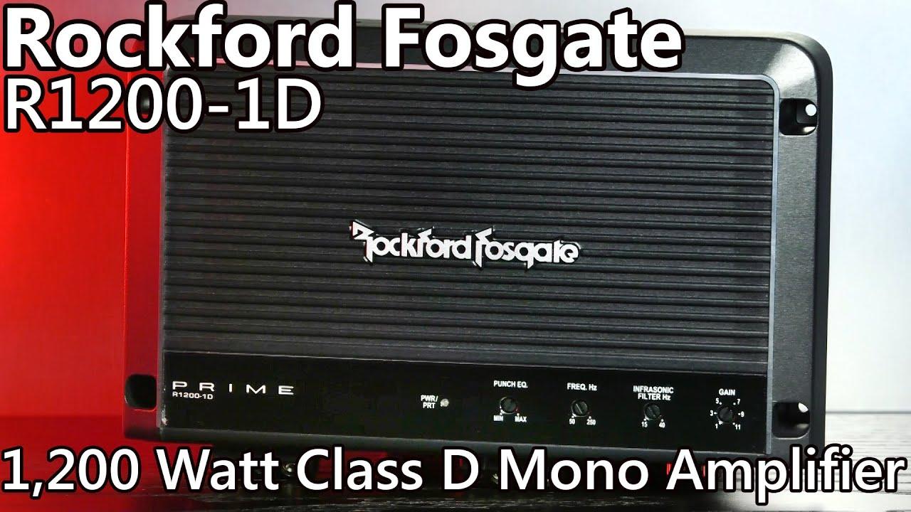 Rockford Fosgate R1200 1d 1200 Watt Car Amplifier Review Youtube 1channel Dvc Wiring Diagram