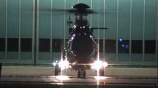 German Police Helicopter AS 332 Take Off, Blumberg