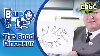 The Good Dinosaur director draws new dinosaur on Blue Peter - CBBC