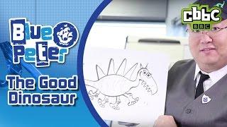 The Good Dinosaur director draws new dinosaur on Blue Peter - CBBC